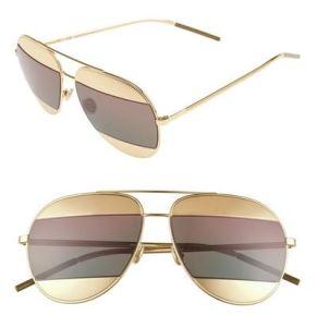 Christian Dior Split Aviator Sunglasses