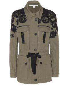 Veronica Beard Appliquéd Cotton Jacket
