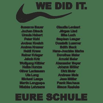 Abschlussmotiv G50 - Just kind of did it    Abschlussshirts von SCHUL.AG