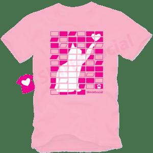 เสื้อยืดลายแมว CAT-04 สีชมพู