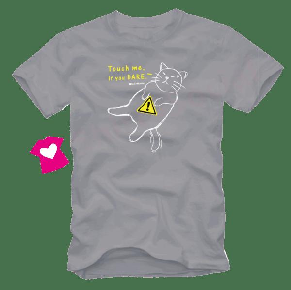 เสื้อลายแมว CAT-14 สีเทา