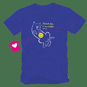 เสื้อยืดลายหมาน่ารัก DOG-04 สีน้ำเงิน
