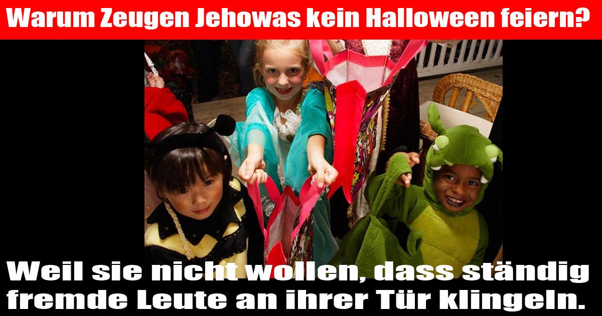 Warum die Zeugen Jehowas kein Halloween feiern