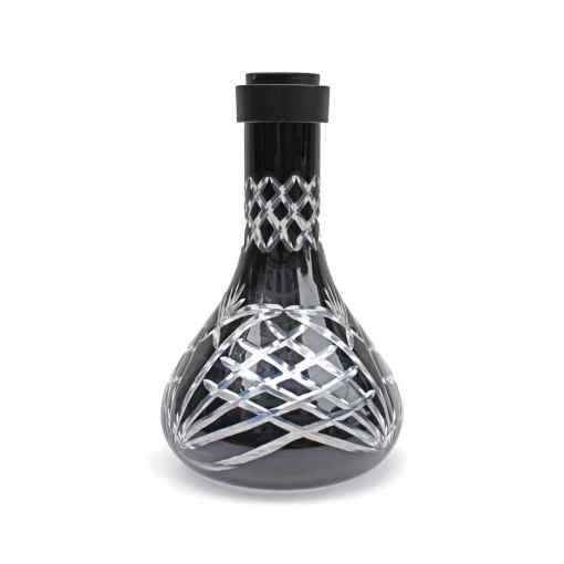 MG Hookah Panther Crystal Vase Black