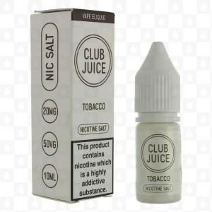 Club Juice Tobacco Nic Salt E-Liquid 10ml