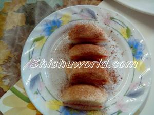 Idli sandwich dessert