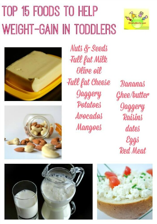 Top 15 foods to help weight gain in kids