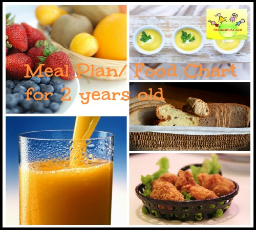 Vegetarian Food Chart/ Meal Plan for 2 year old/ 18-24 month Toddler Food  Chart