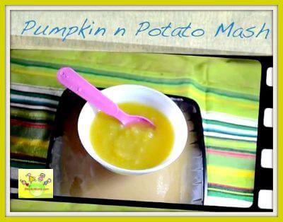 Pumpkin Potato Mash/Puree for babies