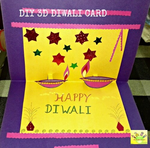 DIY 3D DIWALI CARD