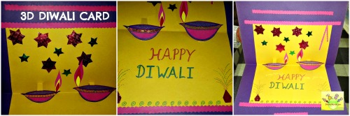 Decorate 3d Diwali card as you wish