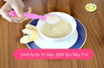 Apple Rice baby food Lunch Recipe