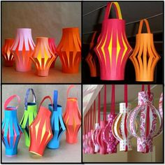 Craft Paper lanterns for kids