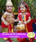 Tips to dress kids as radha krishna for Janamashtami