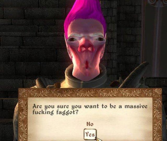 Oblivion Massive Fucking Faggot