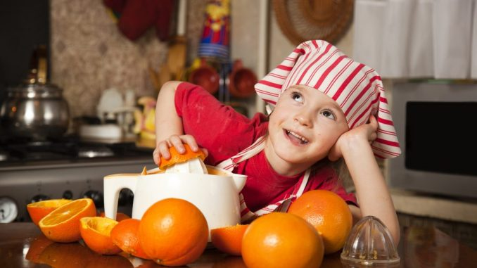 Small Kid with juicer