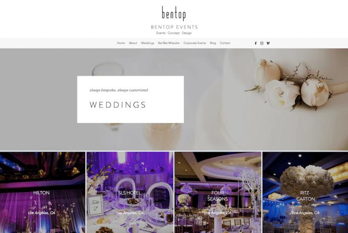 Bentop Events Website