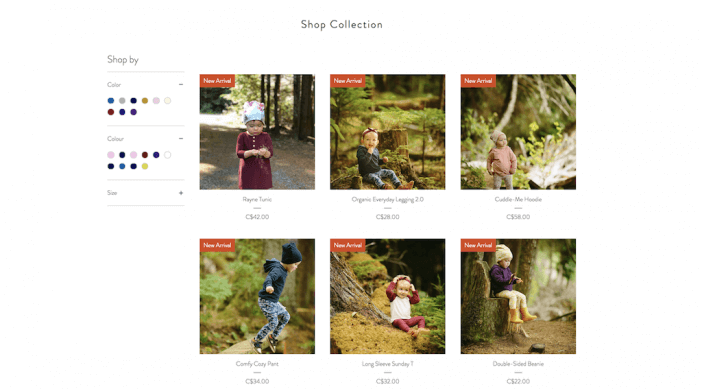 Wild North Kids Collection page