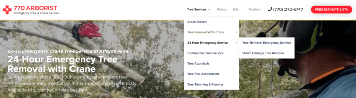 Tree Company Service Page