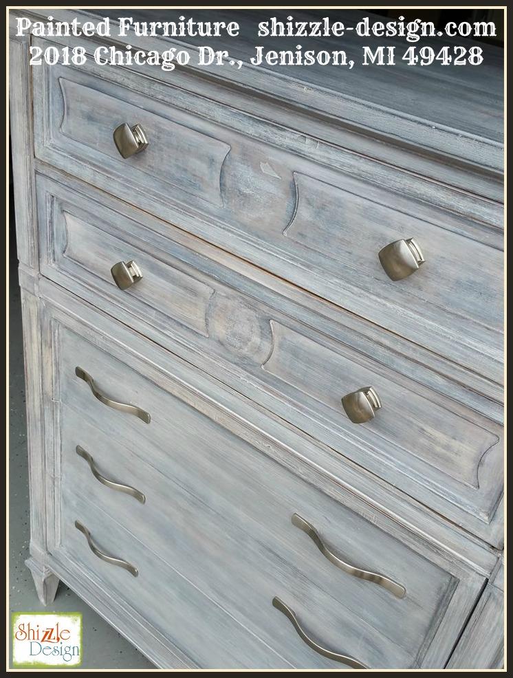 10 Aug Beautiful White Wash Finish Using Dark And White Wax On Painted  Dresser