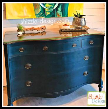 Shizzle Design Vintage Dresser Chalk Painted Shizzle Style