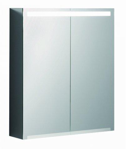 keramag armoire de toilette geberit option avec eclairage deux portes largeur 60 cm 500582001