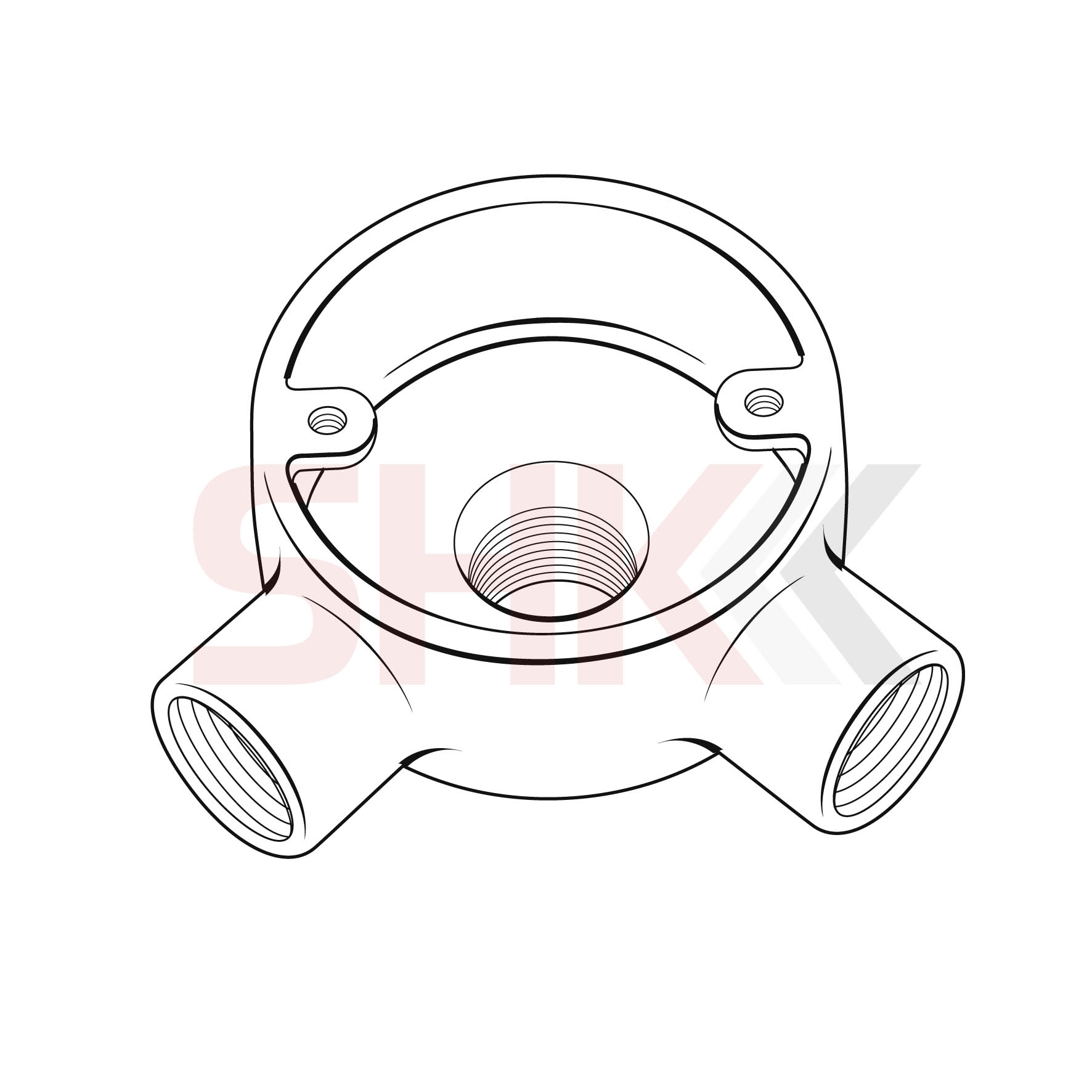 20mm Circular Junction Box Back Outlet 2 Way Angle Shk
