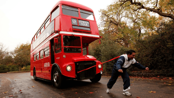 manjit singh pulling double decker bus - Supercomputers: Designed for humans(?!)