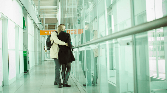 airport goodbyes - Home