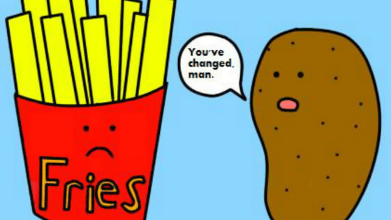 fries and potato