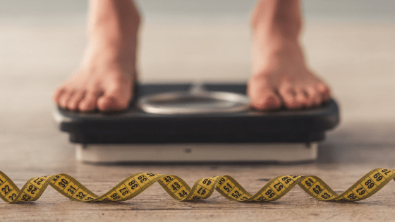weigh scale and inch tape - The absolute #1 fat loss tip!