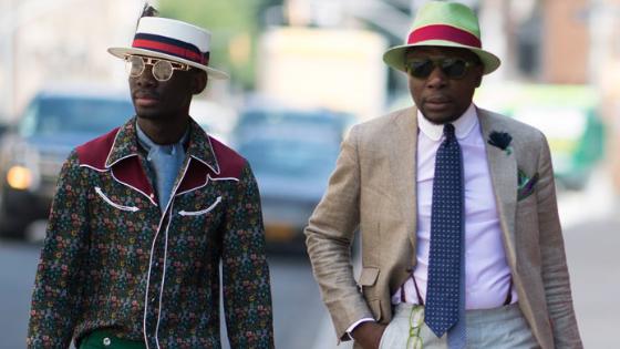 two fashionable men style fashion