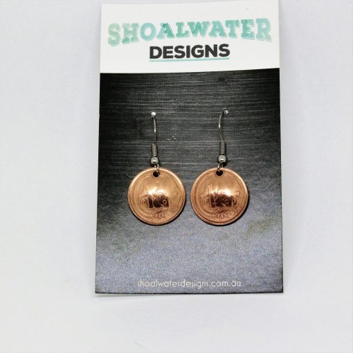 1 cent coin earrings