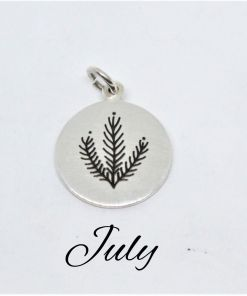 July Native Flower Birth Pendant
