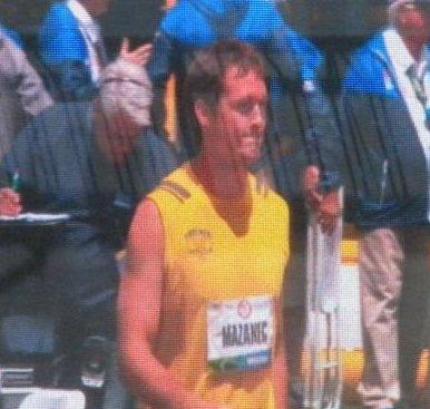 Mazanec at the 2012 Olympic Trials