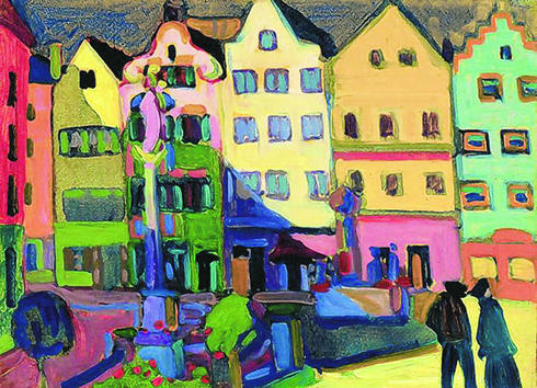 Largest Kandinsky Copy on Weilheim Square in Germany (2/2)