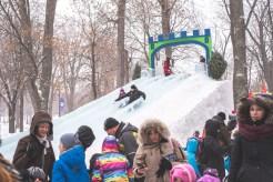 Fête des neiges 2016 - toboggan de glace