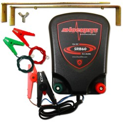 ShockRite Electric Fence Energiser SRB60 0.6J, Connection Cables and Earth Stake