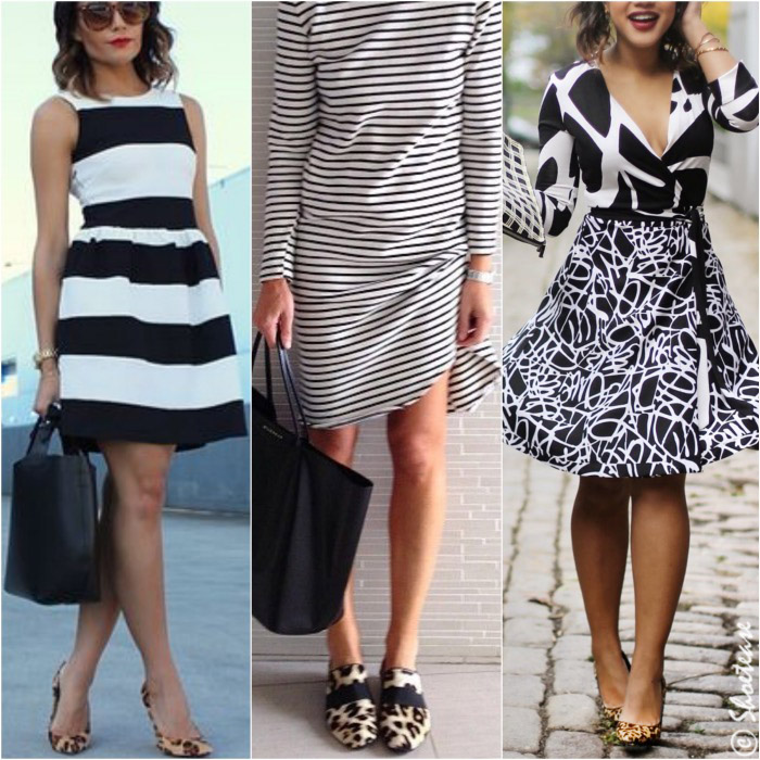 Black And White Patterned Dresses