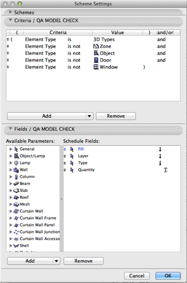 Auditing your ArchiCAD Model using Building Materials and