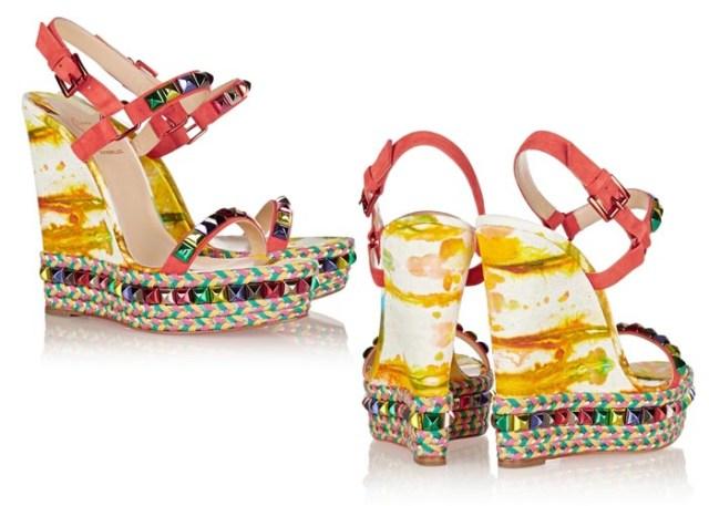 Musthave: kleurrijke Louboutin wedges 2015. Alles over deze Louboutin wedges uit de lente/zomer 2015 collectie. Musthaves, trends, mode en fashion en meer.