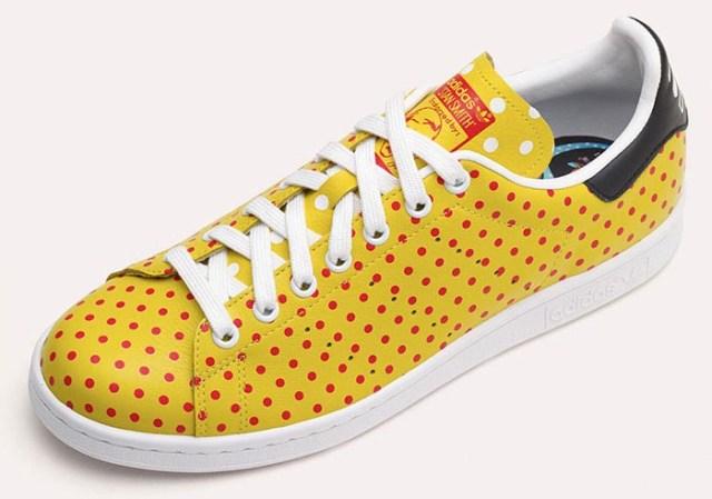 Pharrell breidt Adidas Originals collectie uit. Polkadot sneakers voor de heren. Alles over de nieuwe collectie van Pharrell Williams voor Adidas.