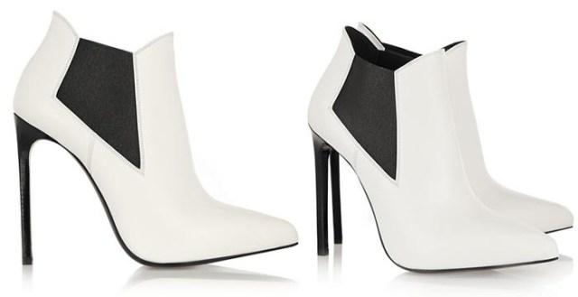 Saint Laurent boots: zwart en wit als een echte Parisienne. Bekijk hier deze gave Saint Laurent boots in zwart en wit. Net als een echte Parisienne.