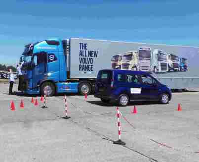 Volvo truck in AEB testing