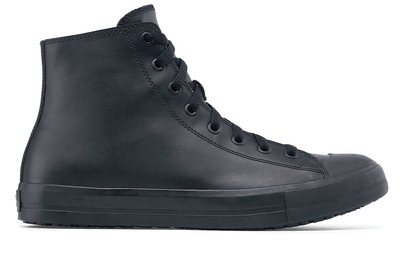 Black Non Slip Leather Shoes