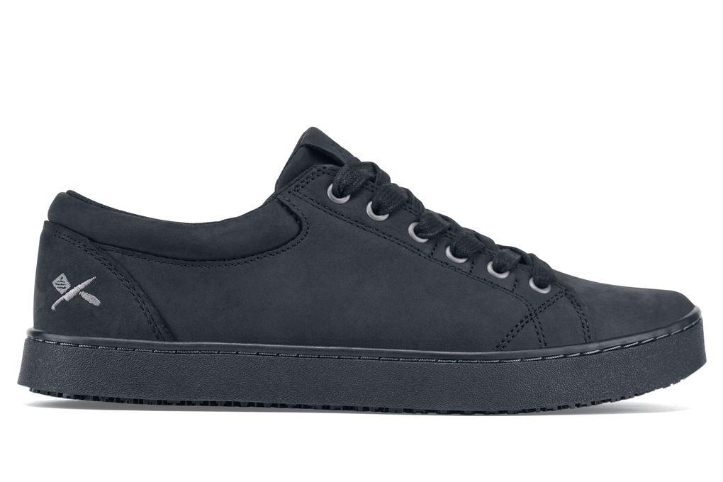 MOZO  Finn  Mens  Black  SlipResistant Chef Shoes