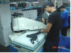 Shoes Cutting machines processing work flow  Die Cutting