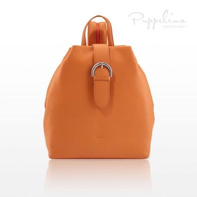 puppelina ryggsäck skinn orange