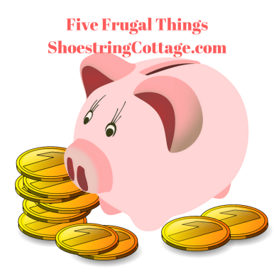 five frugal things