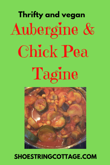aubergine and chick pea tagine